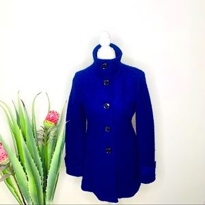 Kenneth Cole Wool-Blend Royal Blue Coat Size 2